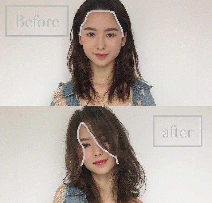 不同脸型所适合的刘海造型大公开 !