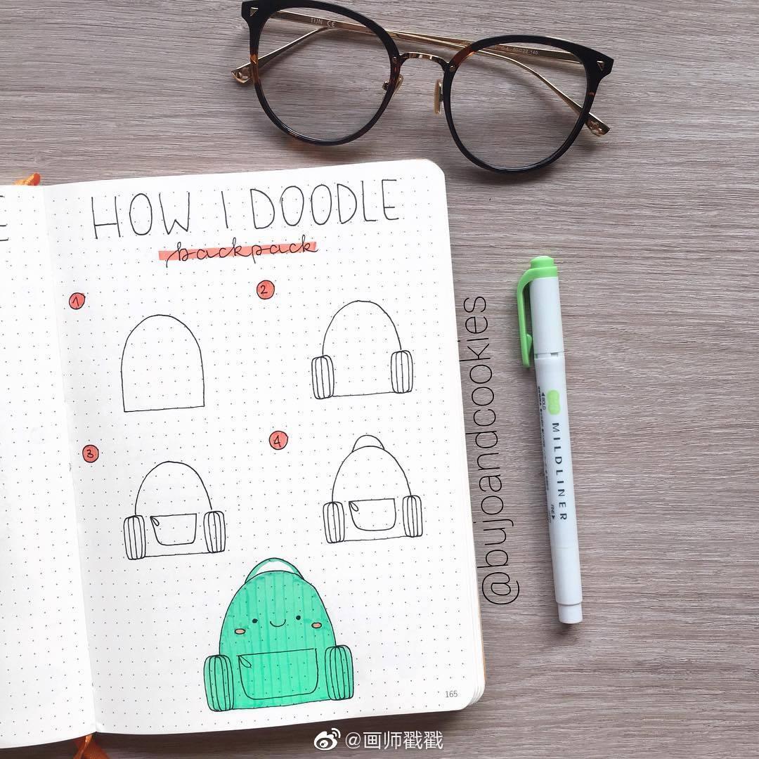 超简单又实用的简笔画,手帐素材步骤图,转需哟@微博美学