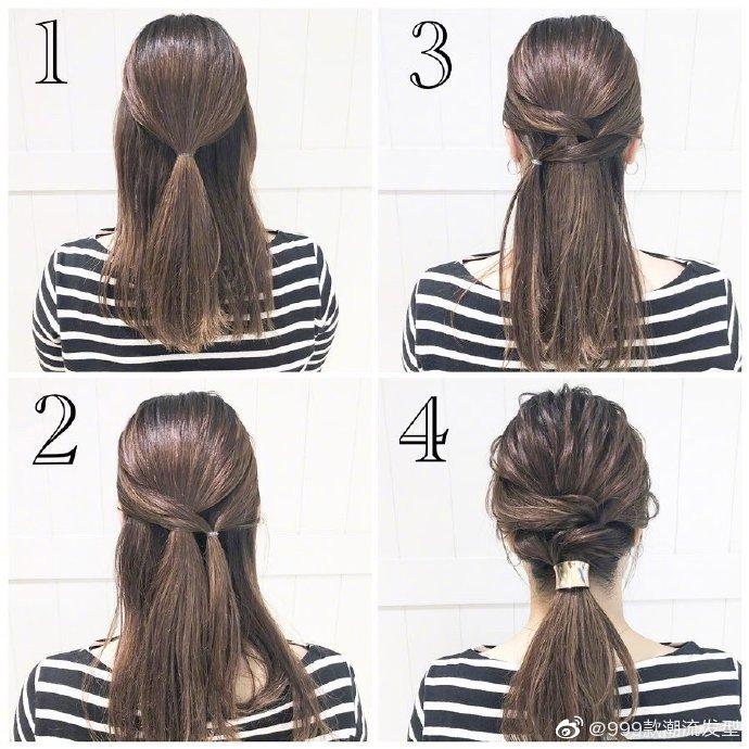 岛国知名美发师渡边义明的9款编发、绑发图解,可爱甜美风格都有