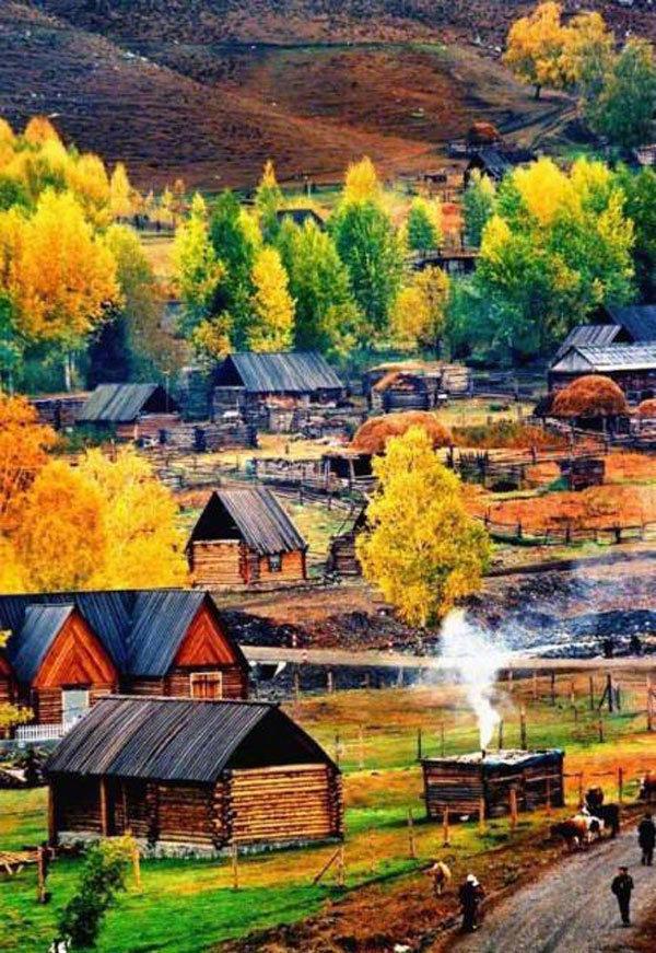 新疆的白哈巴村,位于中国版图最西北角哈巴河县