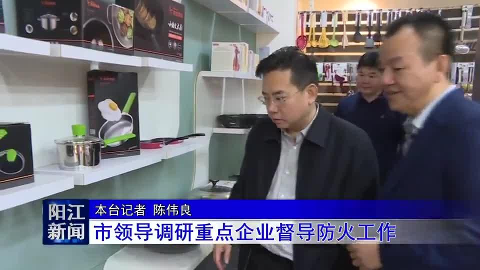 阳江市领导调研重点企业督导防火工作