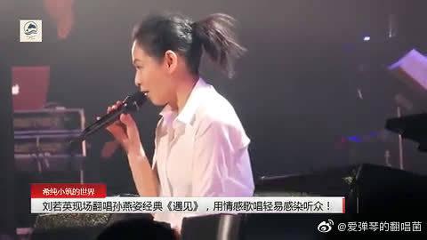 刘若英现场翻唱孙燕姿经典《遇见》,用情感歌唱轻易感染听众!