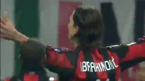 此前伊布对阵布雷西亚进球太霸气了