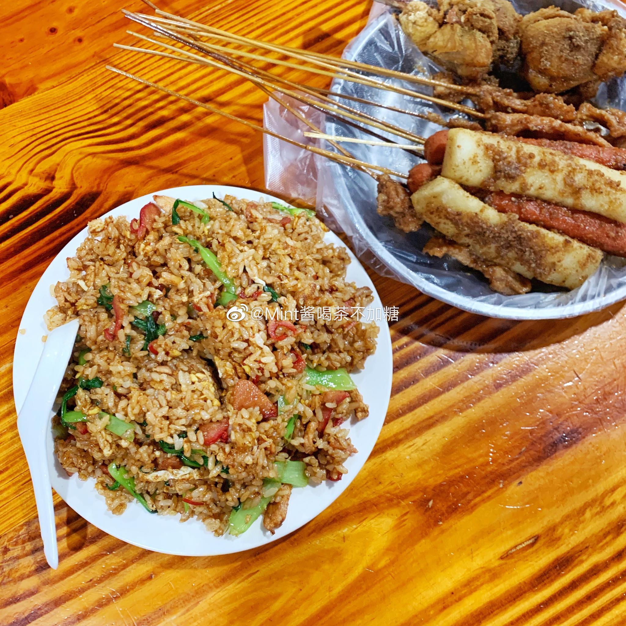 泰兴的老字号夜宵店各种炸物和蛋炒饭都太好吃了!