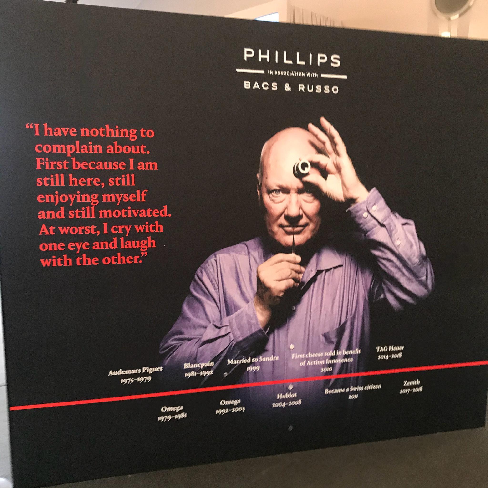 富艺斯在预展现场同时做了一个JC Biver个人藏品的小展览