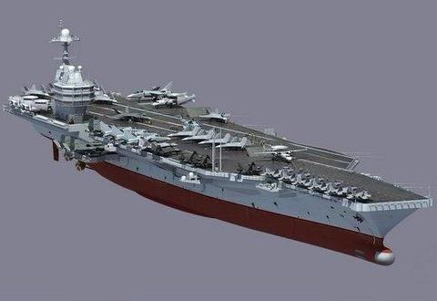 中国核动力航母,排水量高达11万吨?体量可能超越美军超级航母