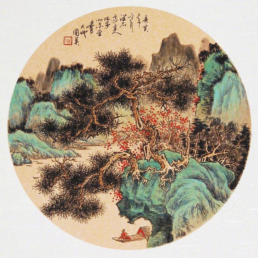 闲来南渡口,迤逦看江枫。一路波涛畔,数家芦苇中。远汀排晚树