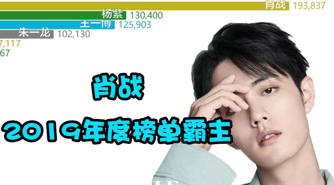 2019年度指定娱乐圈明星艺人导演百度指数排行总榜@X玖少年团肖战DA