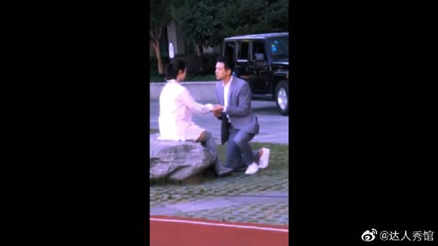 偶遇杨紫和李现拍戏!韩商言这是向佟年求婚了吗?