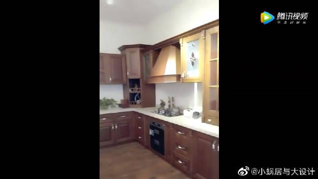 全欧式厨房定制全套家具,估计普通业主看都不看,太贵了