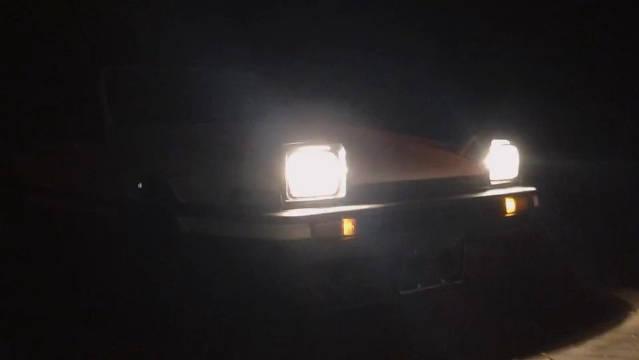 86上山了  头文字D真实版,R32四圆尾灯+86经典跳灯,太美好了!