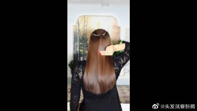 喜欢编发的小可爱们别错过!一款自带仙气的,时尚发披肩发发型