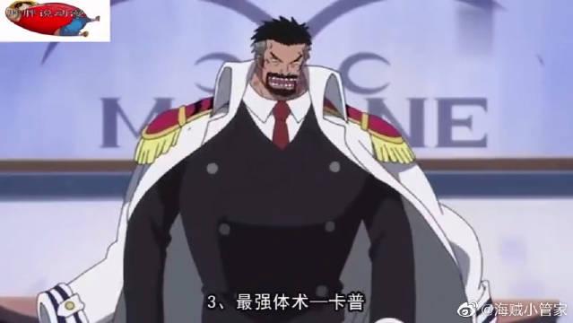 4大领域的最强者,剑术鹰眼体术卡普,索隆绝对实至名归
