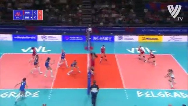 2019年世界女排联赛塞尔维亚贝尔格莱德站,土耳其3-0塞尔维亚