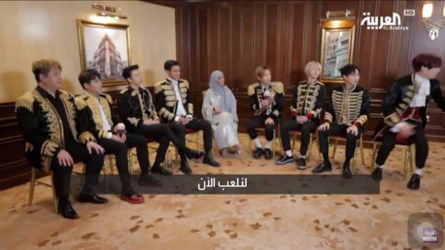 用阿拉伯语言学写Super Junior 李赫宰你是在画画吗还有希澈太搞笑了