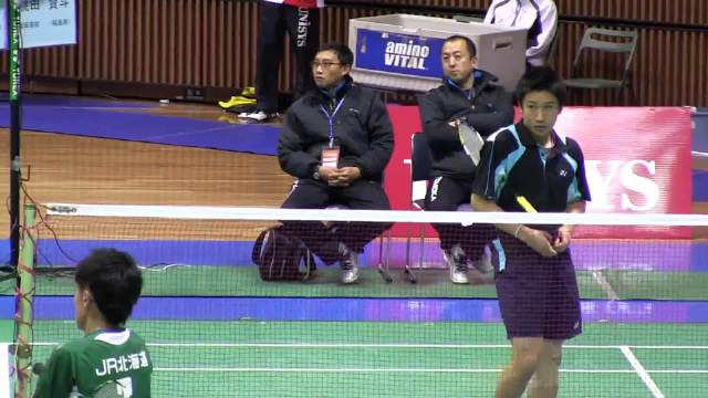 桃田贤斗vs竹村纯 2012全日本羽毛球锦标赛 还略显青涩的摸摸它