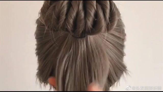 非常适合学生们扎的扎发发型,每天扎个漂亮的发型上学