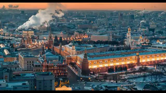 俄罗斯航拍团队Timelab Pro唯美作品《莫斯科的冬季》