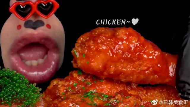 Real Mouth韩国奇葩吃播小哥魔性吃炸鸡,海葡萄,三文鱼,蜂巢