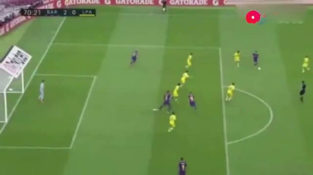 梅西散步也能进球。