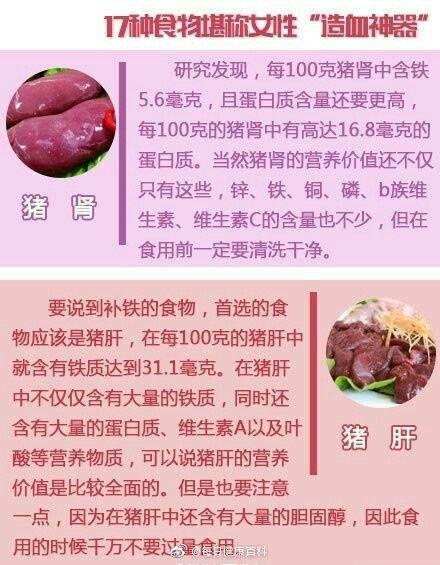 """17种食物堪称""""造血神器"""" ,适合贫血或者体寒的女性"""