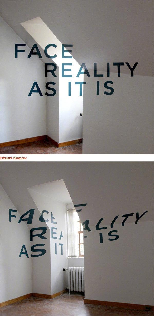 视错觉字体设计。