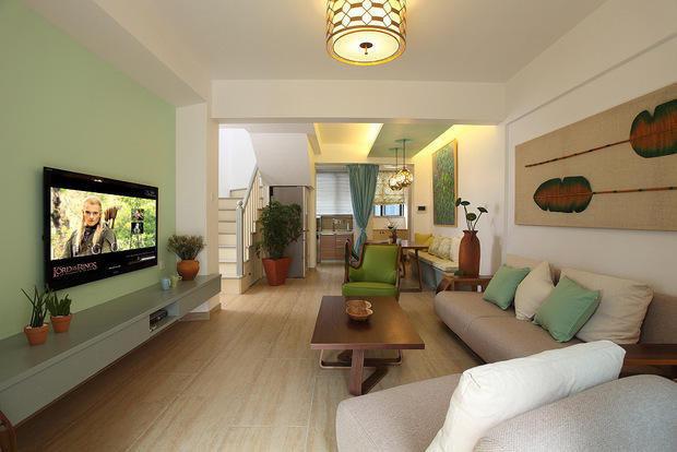 90后12万装89平复式 薄荷绿的小清新婚房