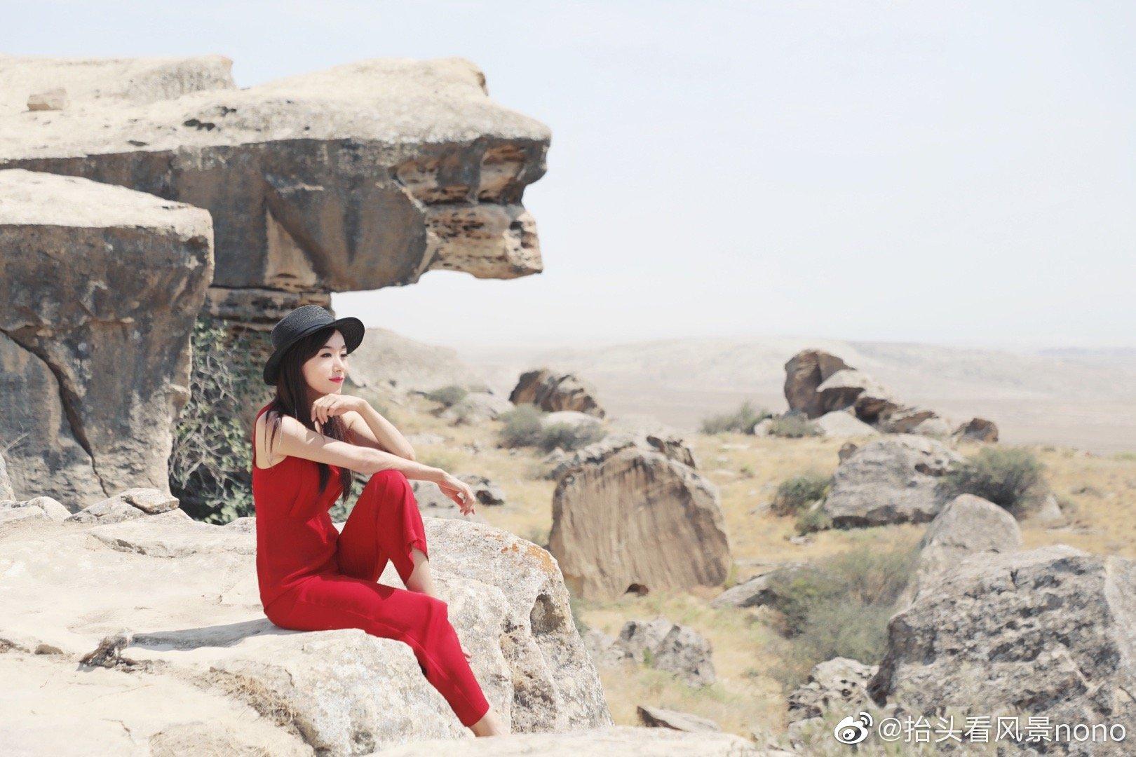 阿塞拜疆,戈布斯坦,有古老的岩画和村落遗址