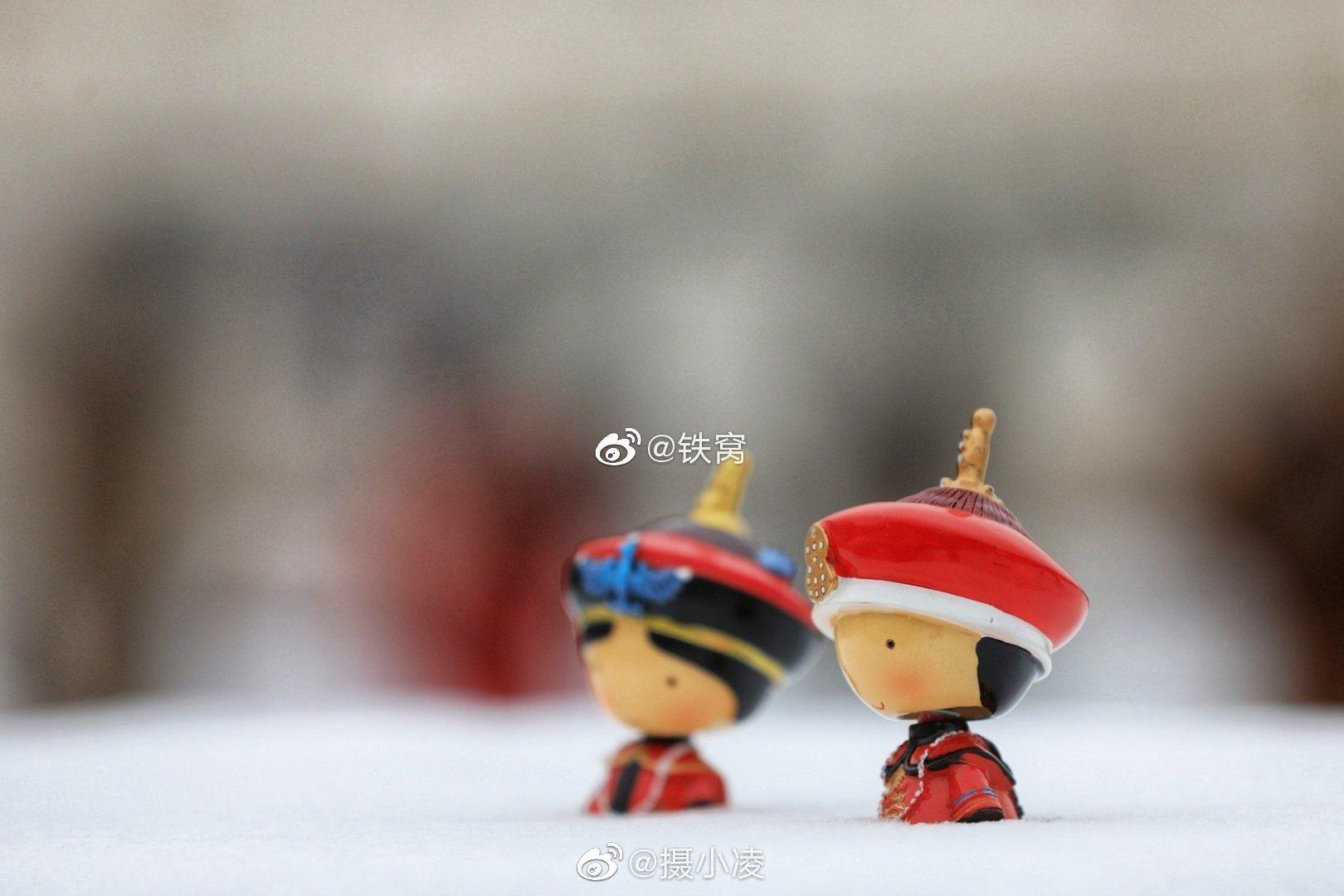 紫禁城里皇帝皇后出游踏雪  摄影人:@铁窝