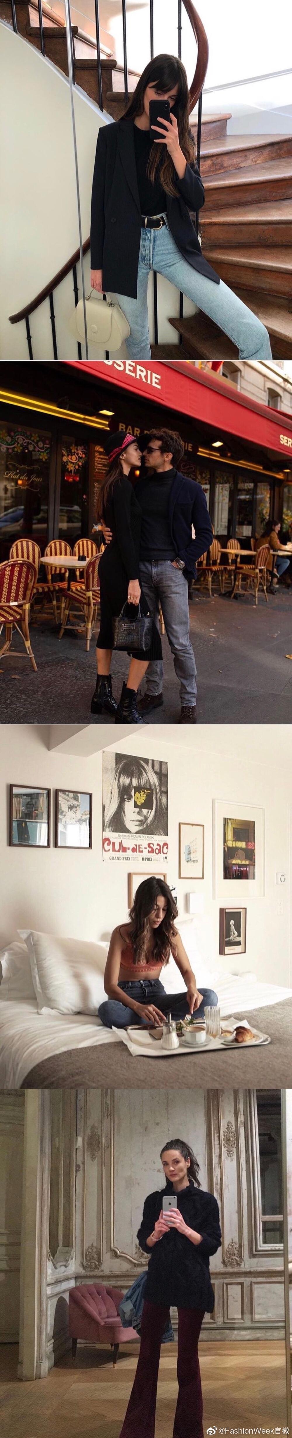 法国博主的私服日常,舒适浪漫的法式风情穿搭合集