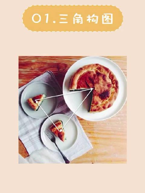 摄影拍照小技巧:甜品的摆拍技巧之基本构图法