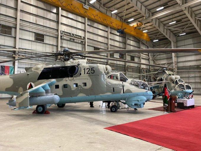 印度将两架Mi-24V转移给阿富汗,移交仪式于10月15日在喀布尔举行。