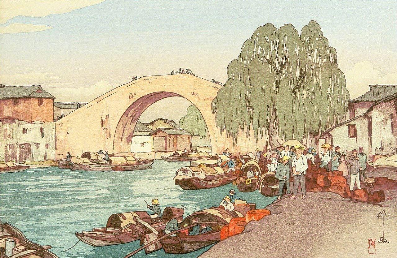 日本著名油画家、水彩画家、版画家 吉田博 (HiroshiYoshida)(1876-19