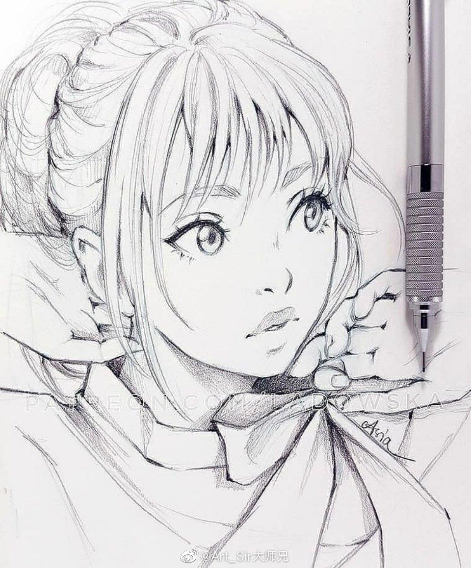 手绘铅笔画师 asia ladowska