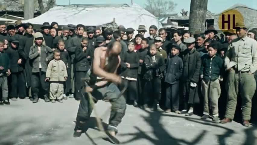 俄罗斯纪录片《中国的重生》1949年北京街头艺人