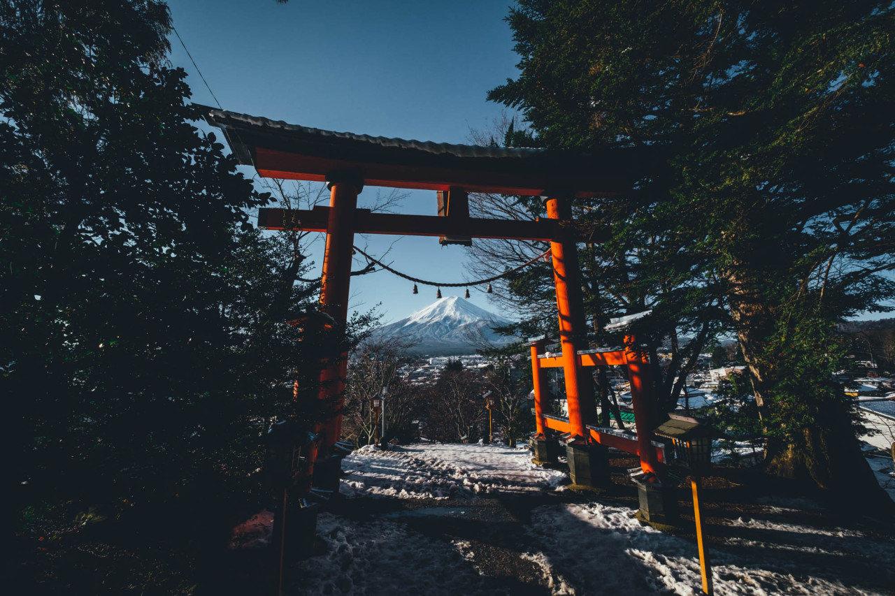 雪后的黄昏 | 富士山。