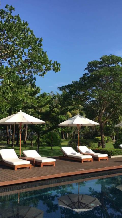 海棠湾艾迪逊,天气热,海边跟泳池基本都没人,酒店如此清静。