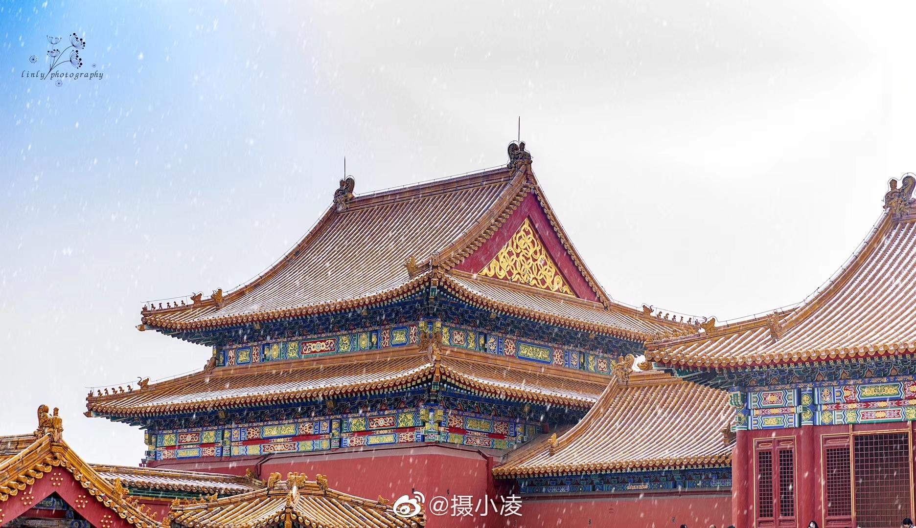此刻的北京不是北京是晶莹剔透的北平 摄影人:@linlypu