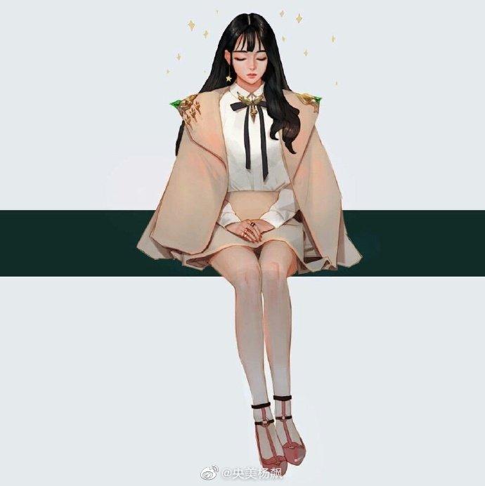 一组漂亮的少女手绘插画作品~ 丨插画师 Wonbin Lee