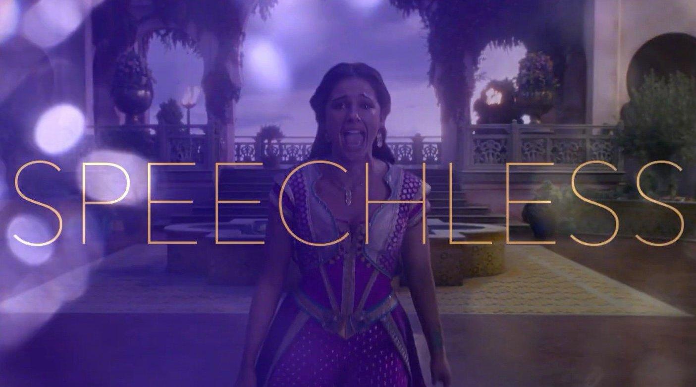 真人版《阿拉丁》电影插曲——《Speechless》官方歌词版视频由在片