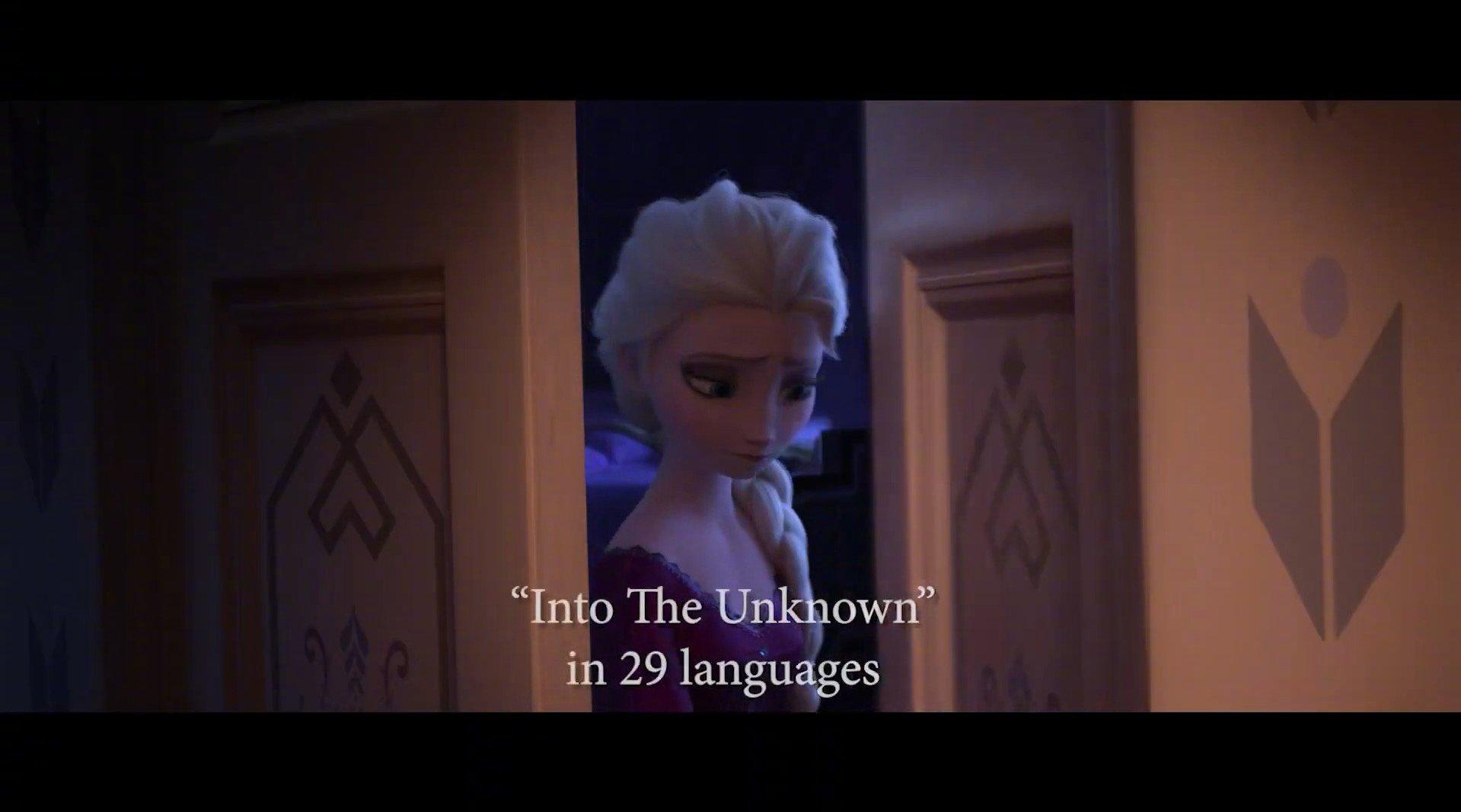 插曲《Into the Unknown》29种语言版本片已提名