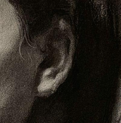 第三五一集 女中年素描头像范画,步骤详细解析,部分细节图