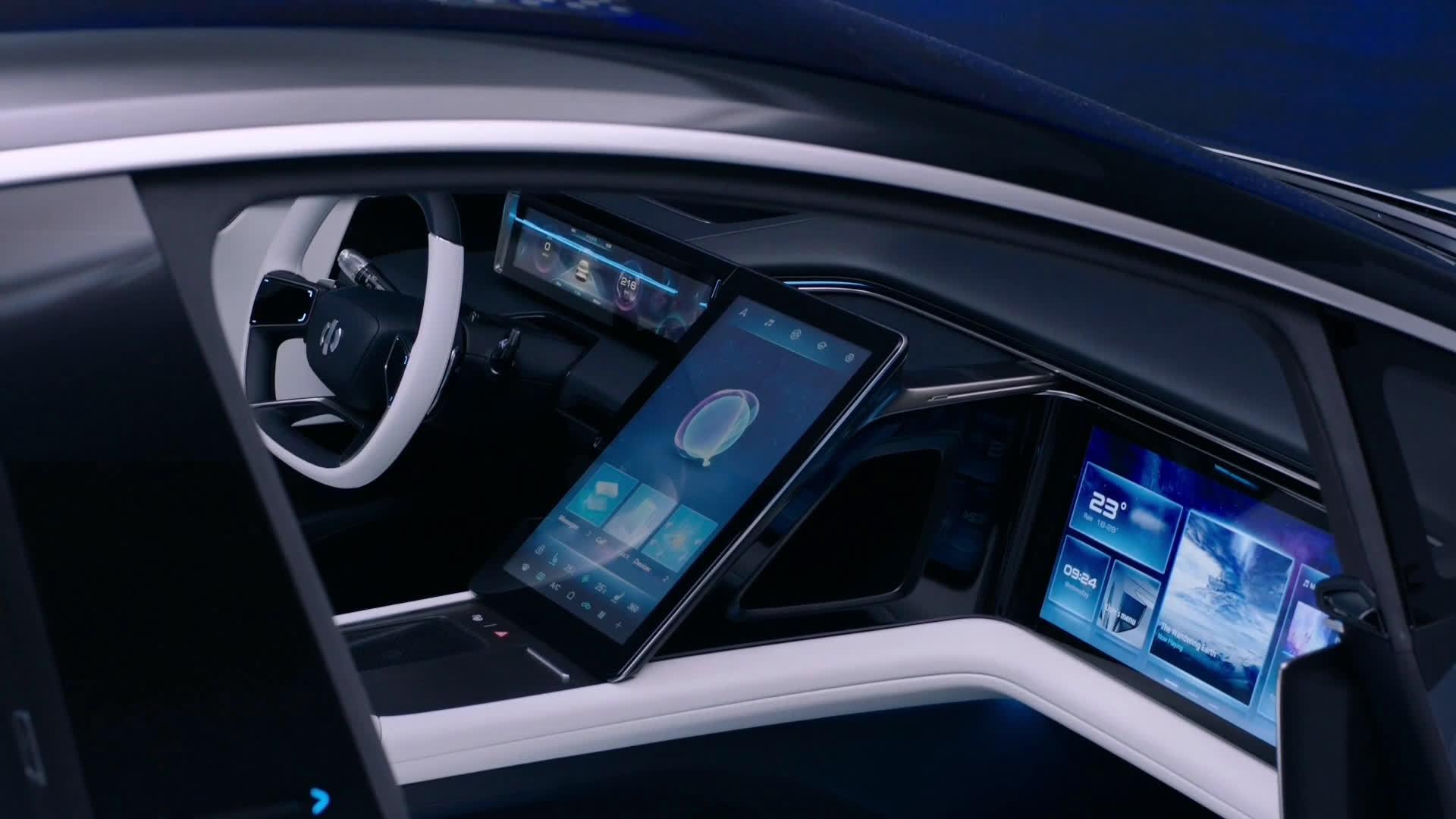 华人运通正式首款量产定型车高合HiPhi 1——多屏+公务舱