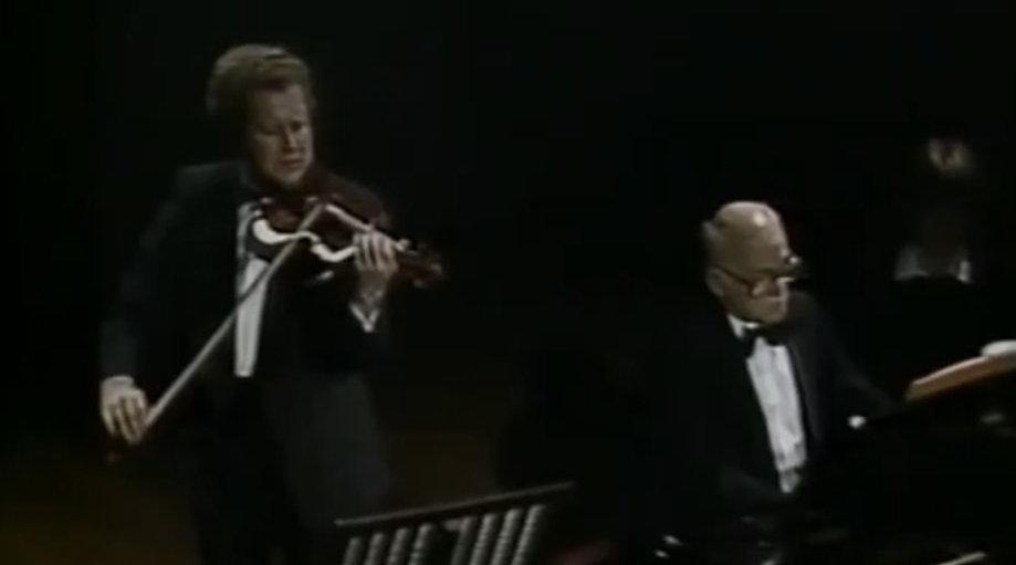 奥列格·卡岗与斯维亚托斯拉夫·里赫特演奏布拉姆斯第一小提琴奏鸣曲
