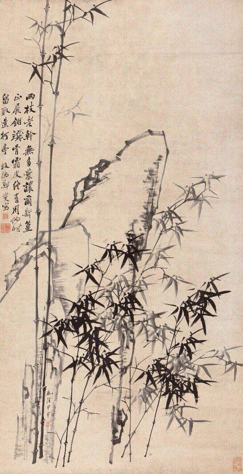 """郑板桥一生只画兰、竹、石,自称""""四时不谢之兰,百节长青之竹"""