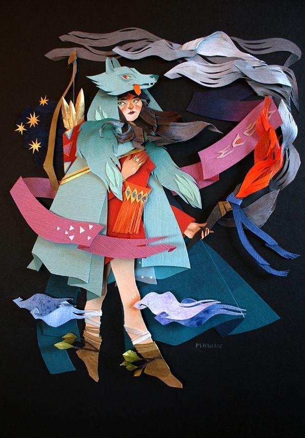 """加拿大艺术家 Morgana Wallace 的纸艺和混合材质""""绘画"""""""