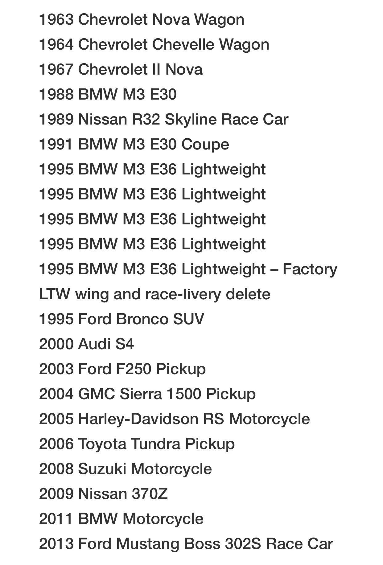 保罗·沃克生前的 21 辆私人珍藏车款即将在2020 年1 月11~19日