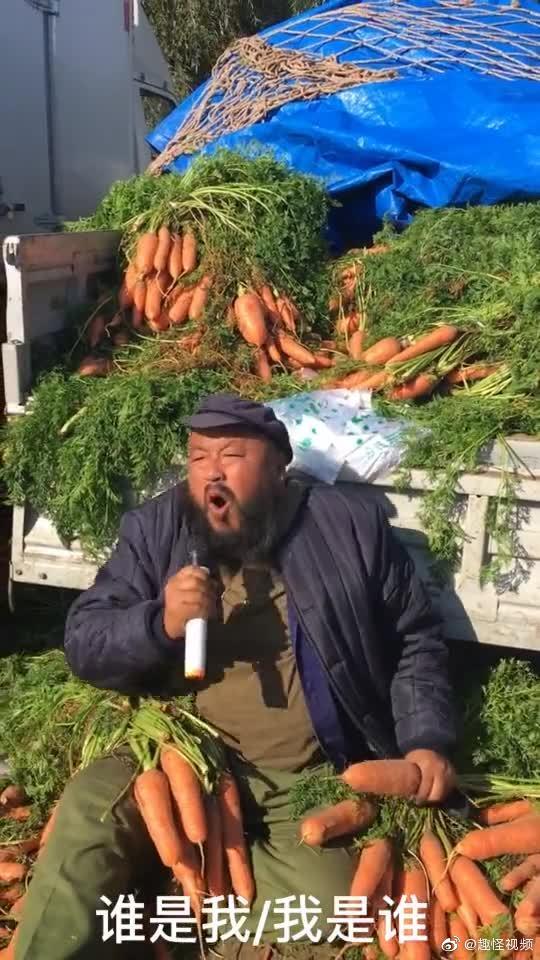 现在卖胡萝卜都需要有点才艺了吗