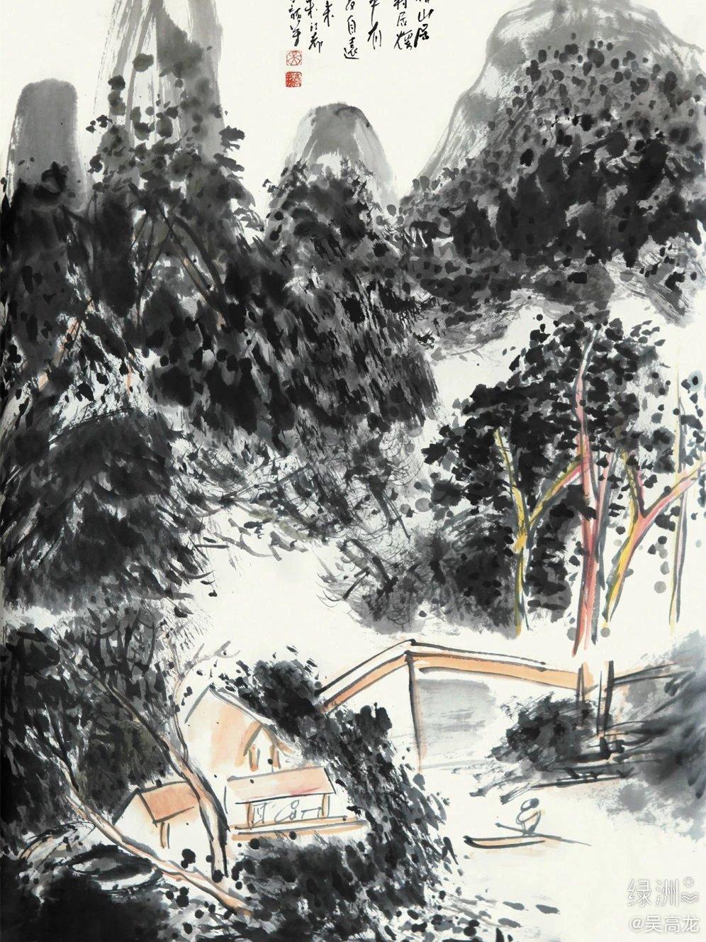 传统水墨山水/作者:吴高龙