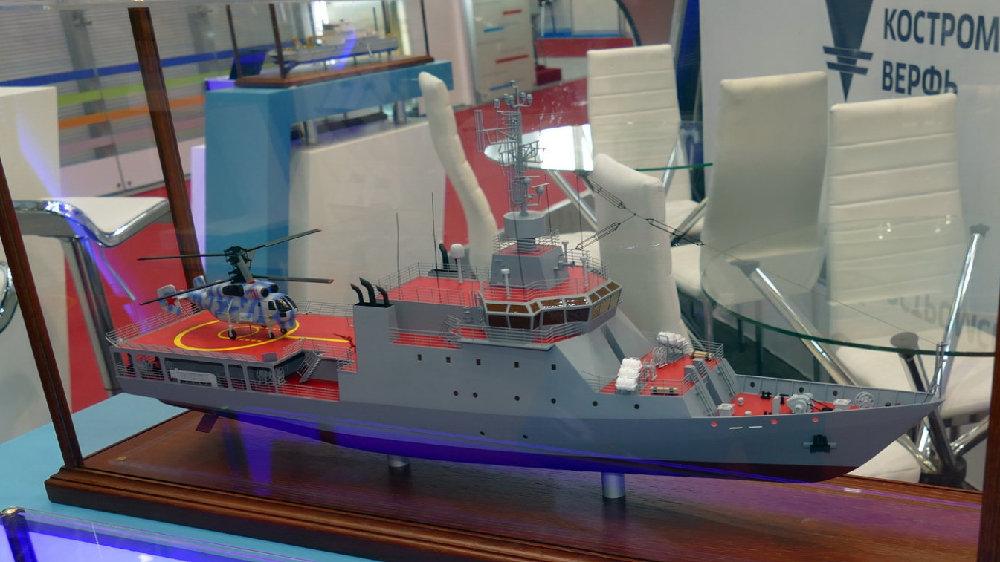 俄罗斯海军开工舰载直升机训练舰,吨位不及056,世昌舰比它大十倍